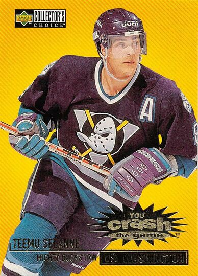 1997-98 Collector's Choice Crash The Game Teemu Selanne