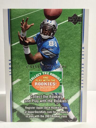 2007 Calvin Johnson Upper Deck Collect The Rookies