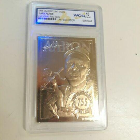 1996 Classic 23KT Gold Hank Aaron