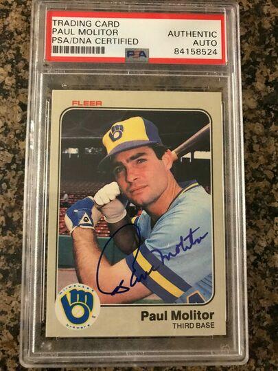 Molitor, Paul 1983 Fleer Auto
