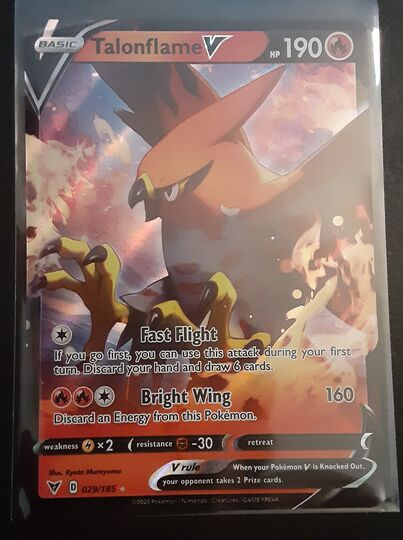 Pokemon Vivid Voltage Talonflame V 029/185 Ultra Rare NM/M