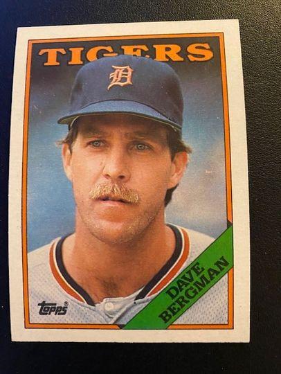 1988 Topps Tigers Dave Bergman 289