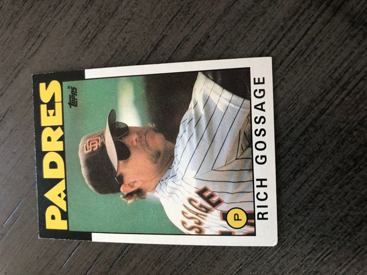 1986 TOPPS RICH GOSSAGE 530