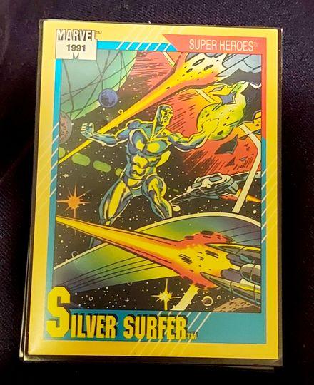 "Silver Surfer Marvel Trading Card ""Super Heroes"" 1991 Card #45"