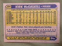 1987 topps 194 kirk mccaskill