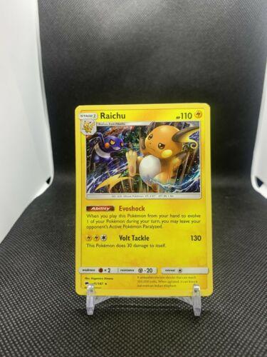 41//147 Raichu Holo Rare Pokemon TCG Sun /& Moon: Burning Shadows
