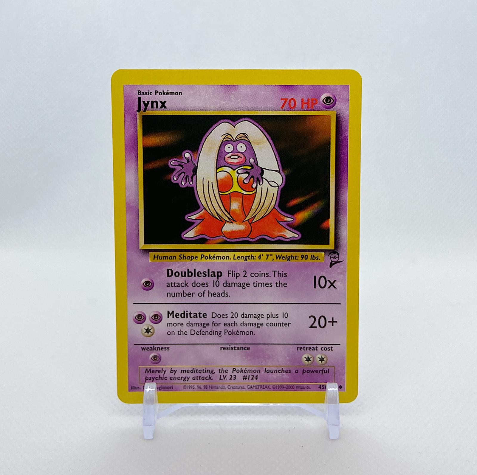 Jynx 45//130 Pokemon Card TCG Wizards Original Base Set 2 NM Great Condition