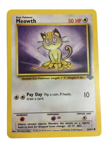 one owner 56//64 from vault storage Meowth Jungle set Pokémon card