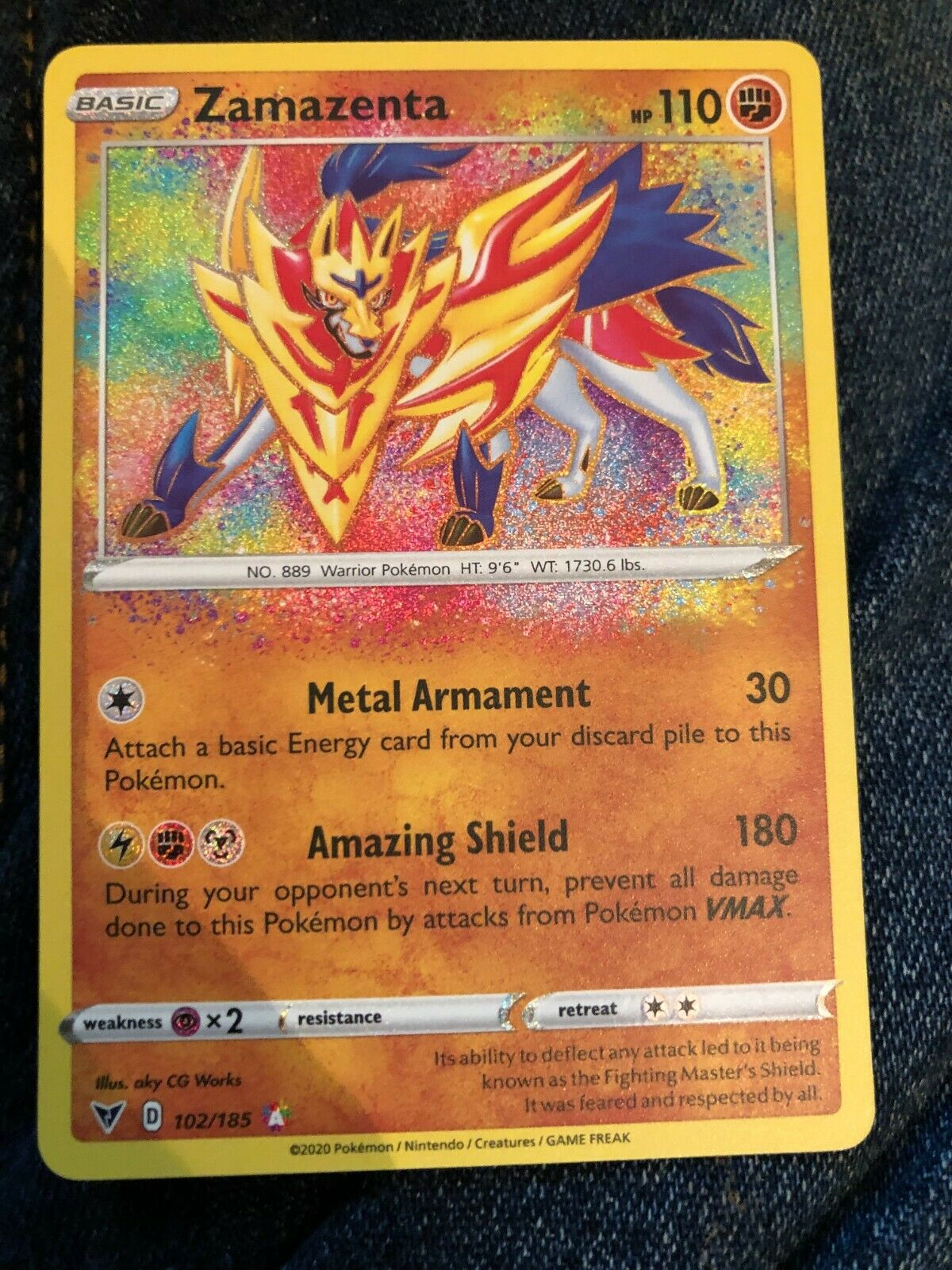 ✨ Zamazenta 102//185 Pokemon TCG Vivid Voltage Amazing Rare PSA 10 POTENTIAL!!!!✨