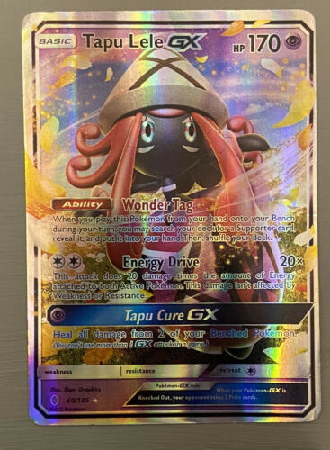 Guardians Rising 60//145 Tapu Lele GX Half-Art Holo Rare Pokemon Card
