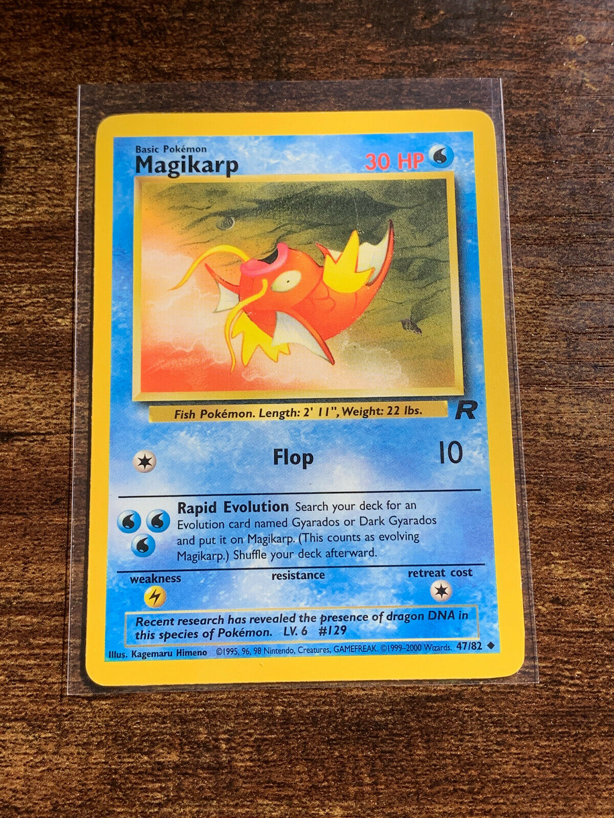 NM//M Condition Pokemon 1st Ed Team Rocket Set UN-COMMON Magikarp 47//82
