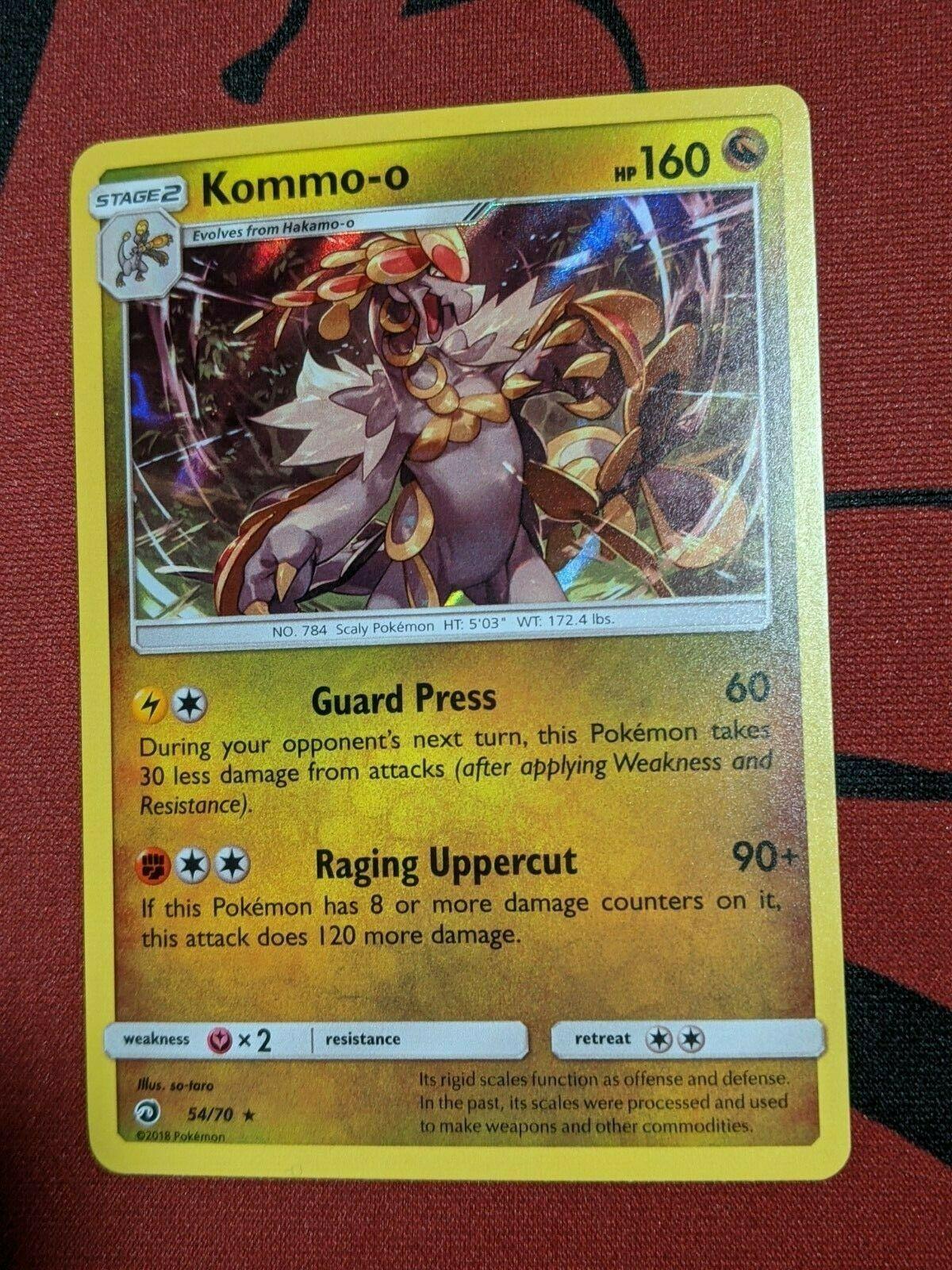 Pokemon TCG S&M Dragon Majesty - Kommo-o 54/70 Holo Rare