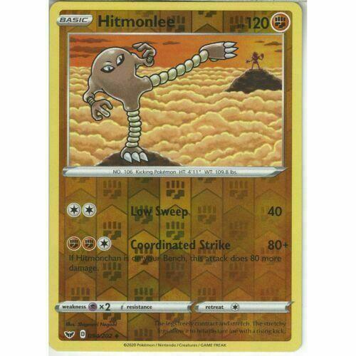 Uncommon Pokemon Card Sword /& Shield Set NM Hitmonlee 094//202