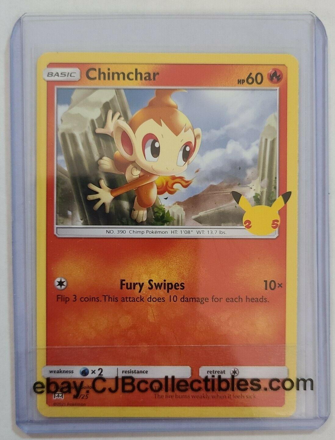 Pokémon CHIMCHAR 12/25 Rare McDonald's 25th Anniversary Promos - Near Mint