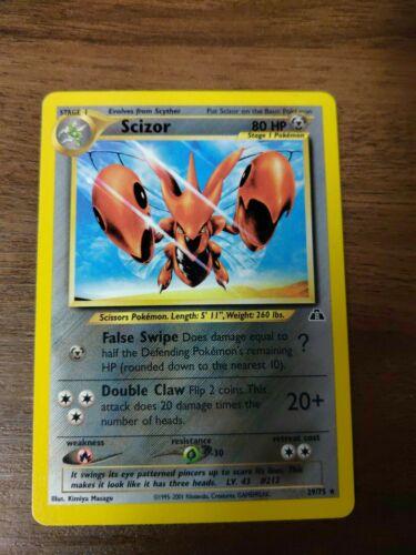 SCIZOR First Edition Neo Discovery Rare Pokemon Card 29/75 Near Mint - Image 1