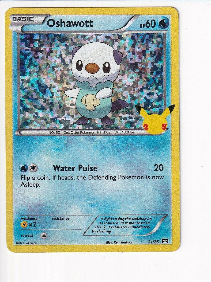 Pokémon 25th Anniversary Oshawott 21/25 HOLO McDonald's Card NM