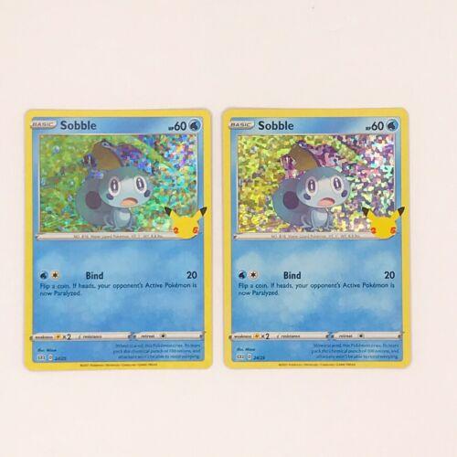TWO Pokémon Sobble Cards Holo 24/25 McDonald's 25th Anniversary Promo MINT/NM