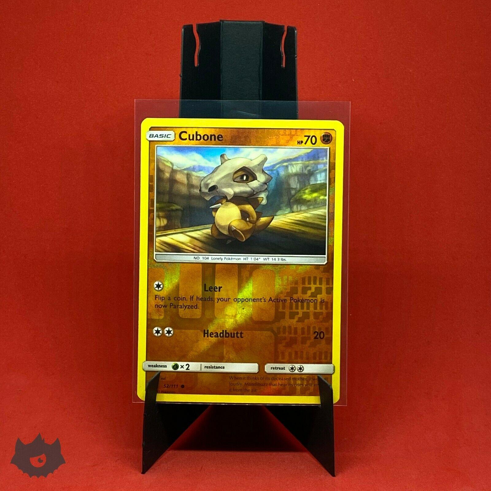 Cubone   52/111 Reverse Holo Foil Common Card Pokemon TCG S&M Crimson Invasion - Image 1