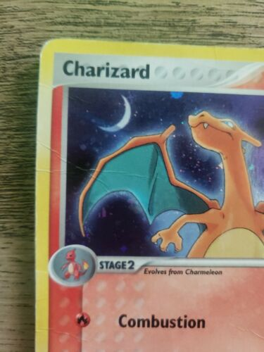 CHARIZARD REVERSE HOLO EX POWER KEEPERS COLLECTION 6//108 STAMPED KEN SUGIMORI