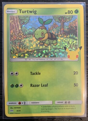 Turtwig 4/25 - Pokemon 25th Anniversary - McDonald's Stamped HOLO Promo NM/M