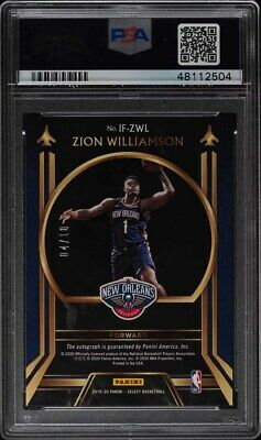 2019 Select In Flight Gold Prizms Zion Williamson ROOKIE RC AUTO /10 PSA 9 MINT - Image 2