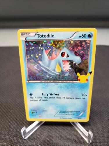 McDonald's Pokemon 25th Anniversary Totodile Holo Card #18/25