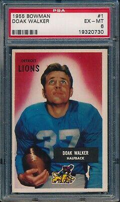 1955 Bowman Football Doak Walker #1 PSA 6 LIONS EX-MT HOF PSA SET BREAK - Image 1