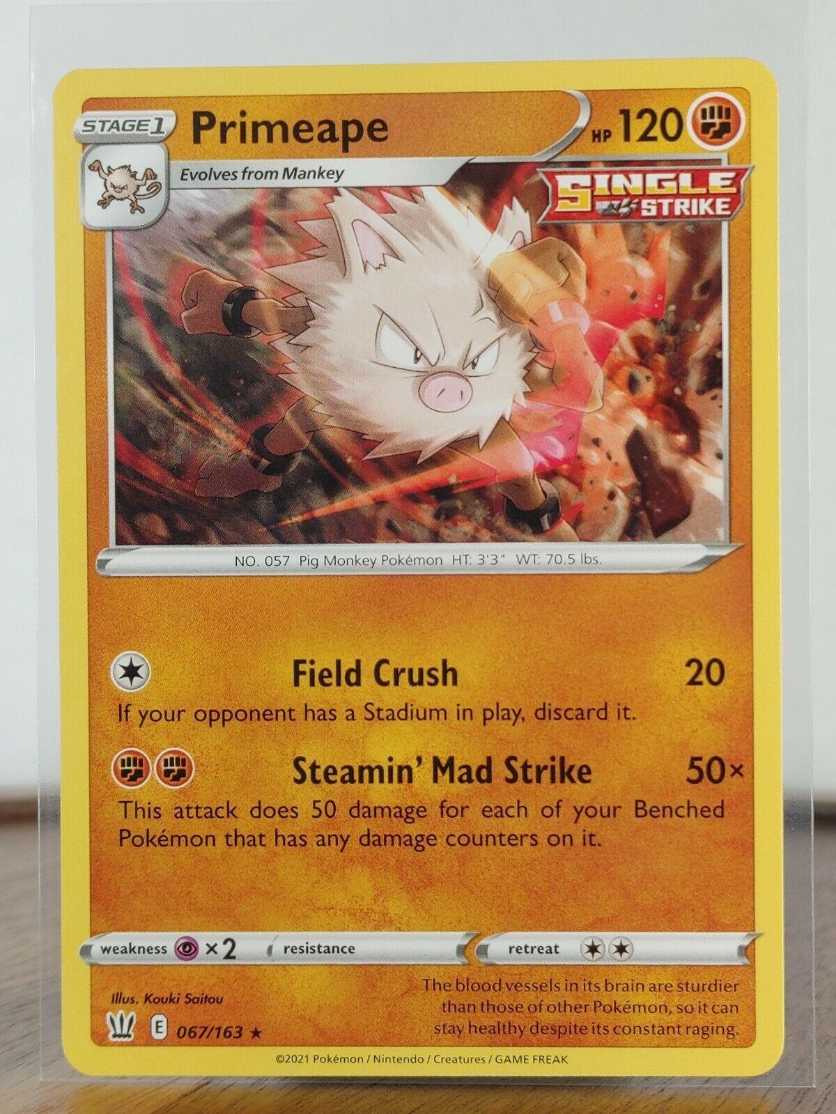 Primeape  067/163 Sword & Shield: Battle Styles ((Rare))  Near Mint Pokemon
