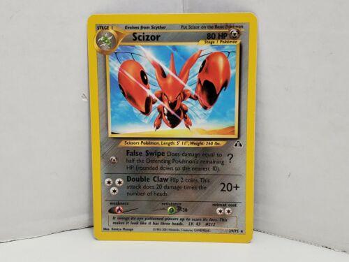 Pokemon Neo Discovery Scizor NON Holo Rare 29/75 LP MP - Image 1