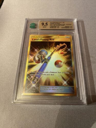 Pokemon Lana's Fishing Rod - 266/236 Cosmic Eclipse MNT 9.5 GEM MINT - Image 2