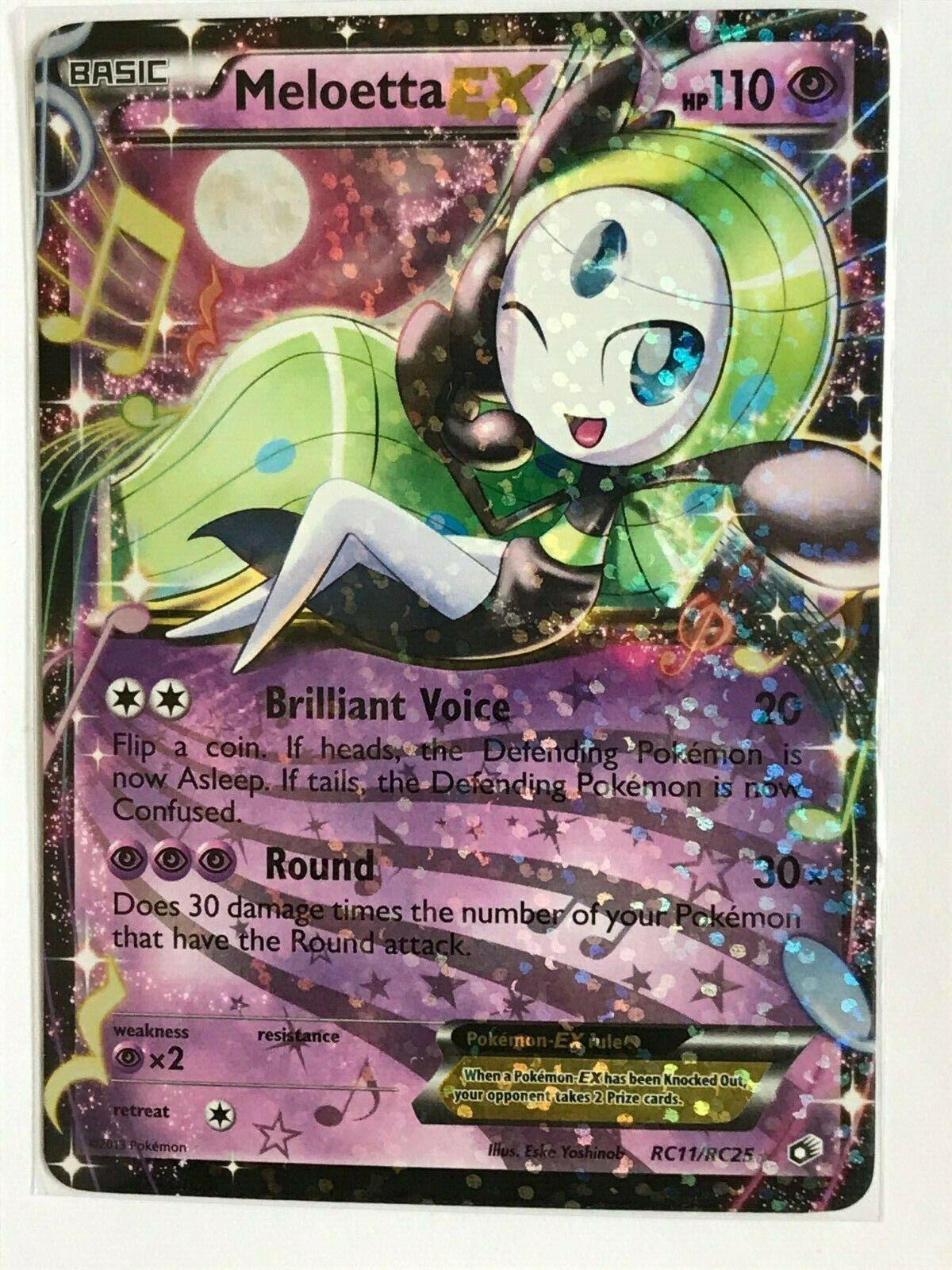 ULTRA RARE Meloetta EX RC25 Pokemon Radiant Collection Legendary Treasures LP
