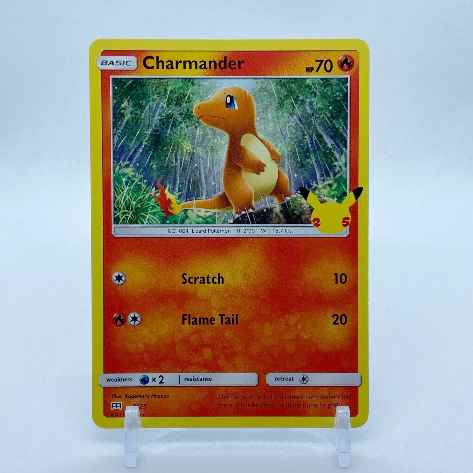 Charmander - 9/25 Mcdonald's Promo 25th Anniversary Starter Pokemon - NM/MINT