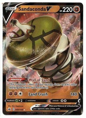 Pokemon Sandaconda V 089/198 Ultra Rare Chilling Reign NEW IN-HAND