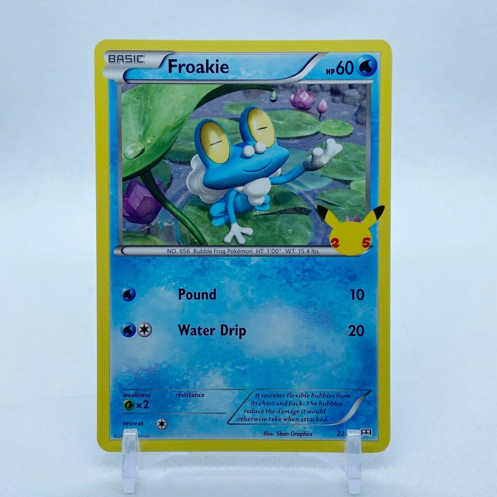 Froakie - 22/25 Mcdonald's Promo 25th Anniversary Starter Pokemon - NM/MINT