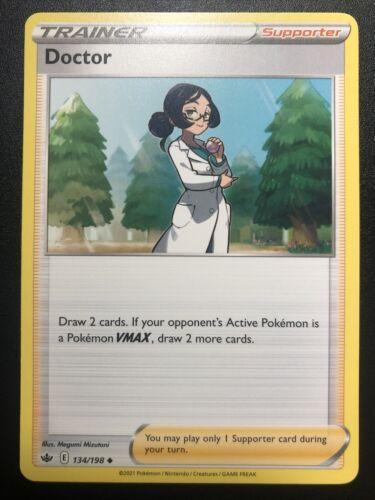 IN-HAND Pokemon Card Doctor Full Art Ultra Rare (190/198) - Chilling Reign NM - Image 4