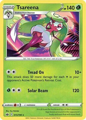 x1 Tsareena - 015/198 - Rare - Reverse Holo Pokemon SS06 Chilling Reign M/NM