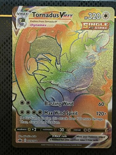 Pokémon Chilling Reign Tornadus Vmax Secret Rainbow 209/198 - Image 5