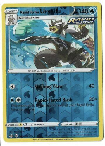 Pokemon TCG Chilling reign reverse holo Rapid Strike Urshifu 044/198 NM