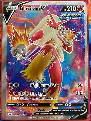 Pokemon Card   BLAZIKEN  V   Ultra Rare  161/198  CHILLING REIGN  *M