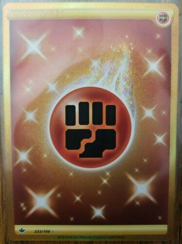 Pokémon TCG Chilling Reign Gold Fighting Energy Secret Rare 233/198 IN HAND - Image 1