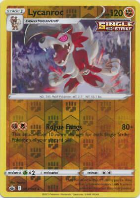 Pokemon - Lycanroc - 087/198 (Reverse Foil) - SWSH Chilling Reign - Holo Rare