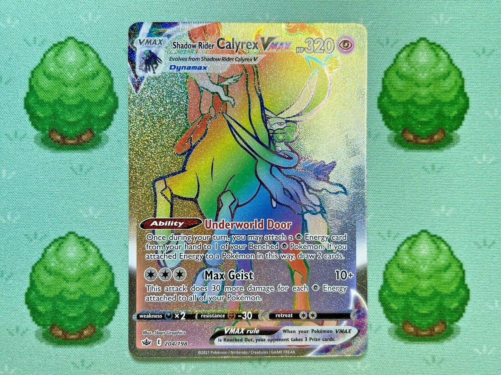Pokemon - Shadow Rider Calyrex VMAX - 204/198 - Chilling Reign - Secret Rare