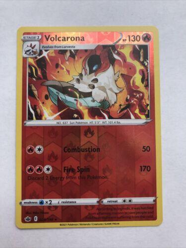 Volcarona 024/198 Reverse Holo Rare Pokemon Chilling Reign - Image 1