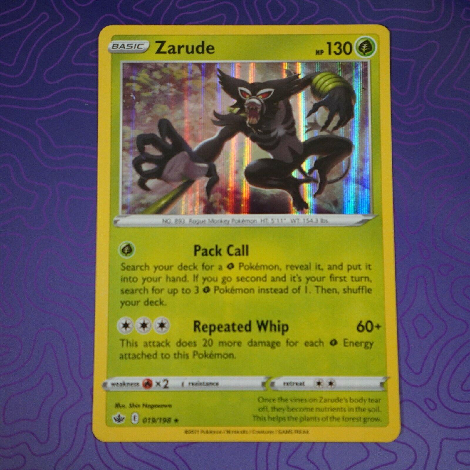 Zarude 019/198 Holo Rare Pokemon Chilling Reign NM