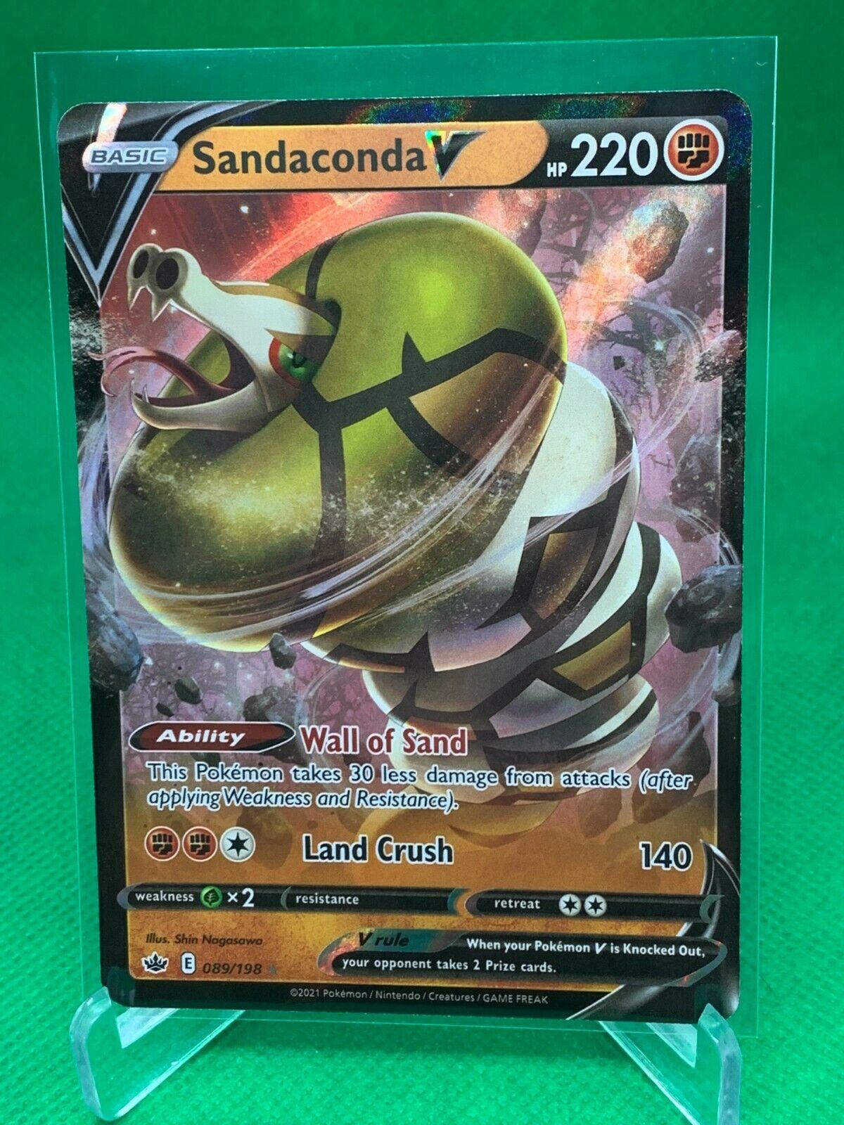 Pokemon - Sandaconda V - Chilling Reign - 089/198 - Ultra Rare