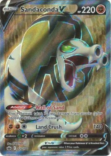 Sandaconda V FULL ART 175 /198 Holo Pokemon Card Chilling Reign