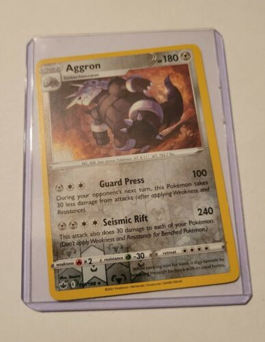 Pokemon TCG Trading Card Game Chilling Reign Aggron Reverse Holo 111/198 - Image 1