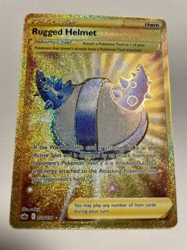 Pokemon Rugged Helmet Chilling Reign Secret Rare Gold 228/198 - NM - Image 1