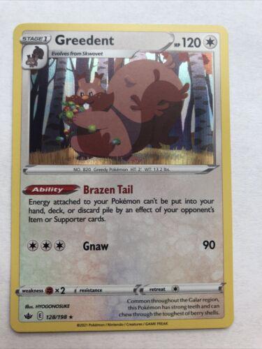 Greedent 128/198 Holo Rare Pokemon Chilling Reign