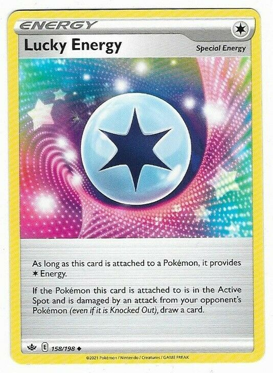 Lucky Energy- Pokemon Card (158/198) Chilling Reign